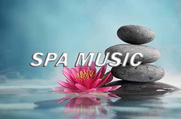 Zen stones and lotus flower with smoke as album cover for BMAsia ambient spa music